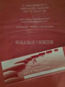 vale regalo Bruno Balaguer
